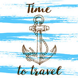 Vintage blue travel background