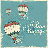 Blue vintage travel background