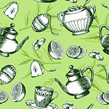 Green tea pattern
