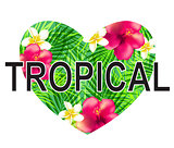 Floral tropical heart