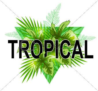 Green tropical banner