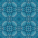 ornamental blue seamless floral graphic background