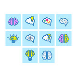 Brain Icon Set