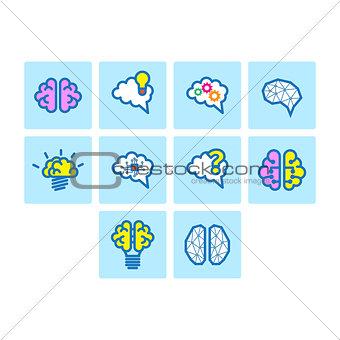 Brain Icon Set