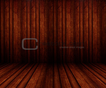 3D wooden room interior