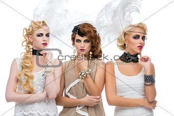 Beautiful retro style girls