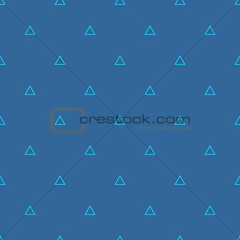 Tile vector pattern with triangles on pastel blue background