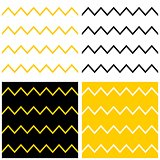 Tile chevron vector pattern set