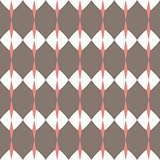 Tile brown and white vector pattern