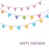 Happy birthday card party design