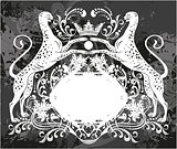 Decorative frame with crown and Cheetah