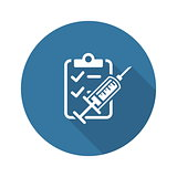 Vaccination and Medical Services Icon. Flat Design.