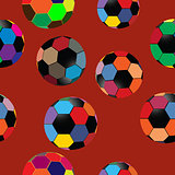 Seamless pattern of colorful balls
