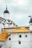 Medieval male Orthodox Alexander-Svirsky Monastery, St. Petersbu