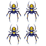 Sprite sheet of crawling spider, game art animation
