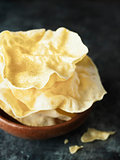 rustic indian papadum crisp