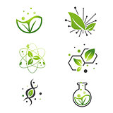 Vegan Green Leaf Abstract Science Lab Set