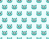 Cat seamless pattern. Fashionable modern endless background, repeating texture. Vector illustration.