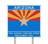 Arizona state road sign