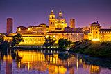 City of Mantova skyline evening view