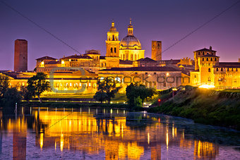City of Mantova skyline evening view