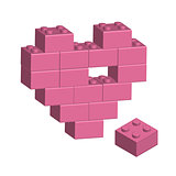 Building bricks in 3D missing part of heart