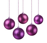 Purple shaded Christmas balls