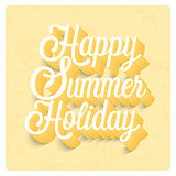 Happy Summer Holiday typographic design.