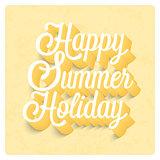 Happy Summer Holiday typographic design.