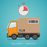 Concept of the shipping service.