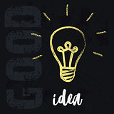 lightbulb ideas concept
