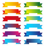 Colorful ribbon set vector