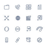 Set with 16 icons for mobile app, sites, mobile, software