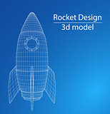 Design of a space rocket. The concept of a startup