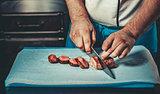 Preparing traditional beef steak