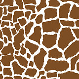 Giraffe skin seamless pattern. African animals concept endless background, repeating texture. Vector illustration.