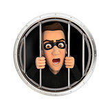 3d thief behind bars