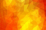 Flat bright yellow abstract triangle shape background