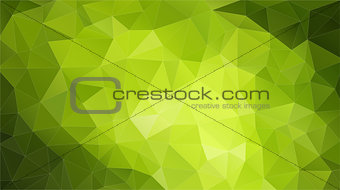 Green Colors Mosaic Pattern Stock Image