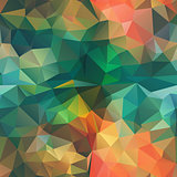 Seamless Triangle shape Mosaic Pattern Stock Image