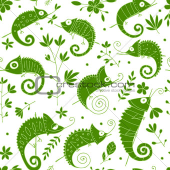 Chameleon collection, seamless pattern for your design