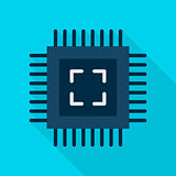 Computer Chip Flat Icon