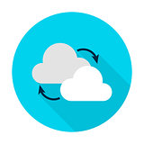 Cloud Computing Flat Circle Icon