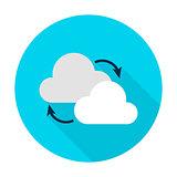 Cloud Computing Flat Circle Icon