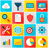 Big Data Analytics Colorful Icons