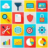 Big Data Analytics Colorful Icons