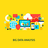 Big Data Analysis Vector Concept
