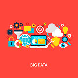 Big Data Vector Flat Concept