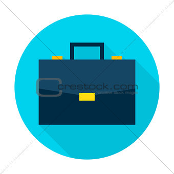 Business Briefcase Flat Circle Icon