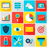 Business Analytics Colorful Icons